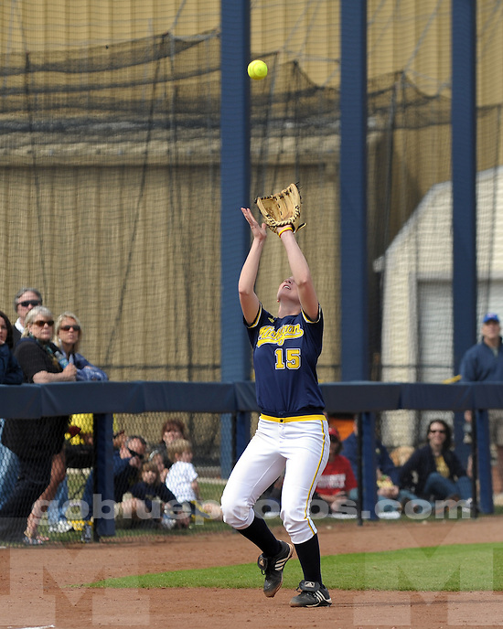 The University of Michigan softball team defeats the University of Wisconsin 8-0 on April 4, 2010 (Easter Sunday) at Alumni Field in Ann Arbor, MI.