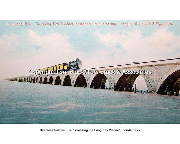 Overseas Railroad crossing the Long Key Viaduct