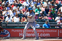 Mike Marjama (3) of the Durham Bulls at bat against the Lehigh Valley Iron Pigs at Coca-Cola Park on July 30, 2017 in Allentown, Pennsylvania.  The Bulls defeated the IronPigs 8-2.  (Brian Westerholt/Four Seam Images)