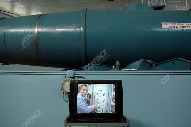 At the centrifuge of Star City, the Russian space training centre outside of Moscow, a video showed a technician in the power room of the centrifuge, a unique machine for testing gravity pull on cosmonauts and astronauts. Star City, Russia, June 23, 2008.