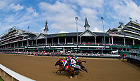 LOUISVILLE, KY - MAY 04: The horses break out of the gate during an undercard race on Kentucky Oaks Day at Churchill Downs on May 4, 2018 in Louisville, Kentucky. (Photo by Scott Serio/Eclipse Sportswire/Getty Images)
