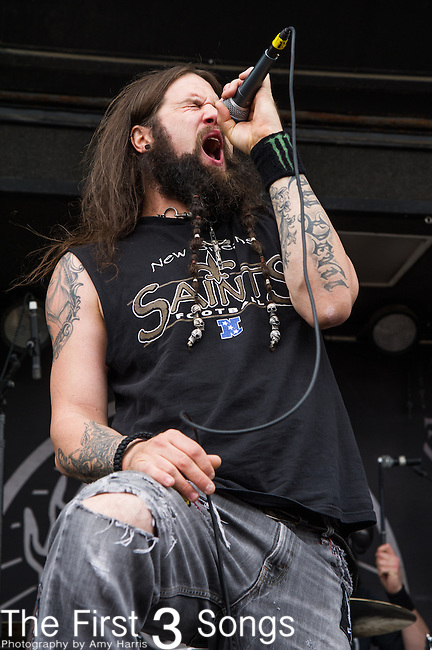 Dewey Bragg of Kill Devil Hill  performs during the 2014 Rock On The Range festival at Columbus Crew Stadium in Columbus, Ohio.