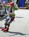 1. Inline Downhill Weltmeisterschaft, Zell am See (Austria) Inline Clown: Mathias Landais (France)