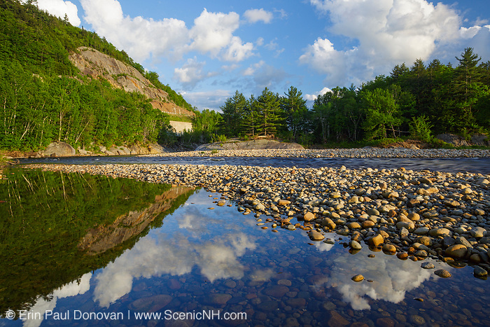 Pemigewasset River in Woodstock, New Hampshire USA during the spring months.