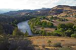Klamath River, California, Siskiyou County, summer, sunset,