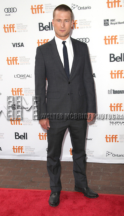 Glen Powel attending the The 2012 Toronto International Film Festival.Red Carpet Arrivals for 'Writers' at the Ryerson Theatre in Toronto on 9/9/2012