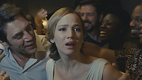 Mother! (2017) <br /> Javier Bardem and Jennifer Lawrence <br /> *Filmstill - Editorial Use Only*<br /> CAP/KFS<br /> Image supplied by Capital Pictures