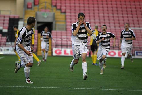 06.11.2010 FA Cup 1st Round Darlington v Bristol Rovers. Michael Brough (Darlington) celebrates his goal