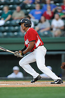 K.J. Bryant (24) of the Wade Hampton High School Generals bats in a game against the Byrnes High School Rebels on Wednesday, April 23, 2014, at Fluor Field at the West End in Greenville, South Carolina. Bryant is the nation's No. 71 top high school prospect, according to Baseball America. (Tom Priddy/Four Seam Images)