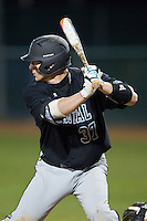 G.K. Young (37) of the Coastal Carolina Chanticleers at bat against the High Point Panthers at Willard Stadium on March 15, 2014 in High Point, North Carolina.  The Panthers defeated the Chanticleers 11-8 in game two of a double-header.  (Brian Westerholt/Four Seam Images)