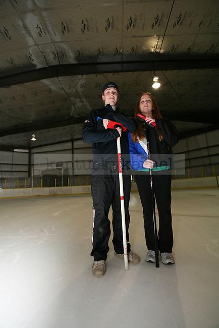 Curling Score Portrait. Photo by Adam Wolffbrandt | Staff