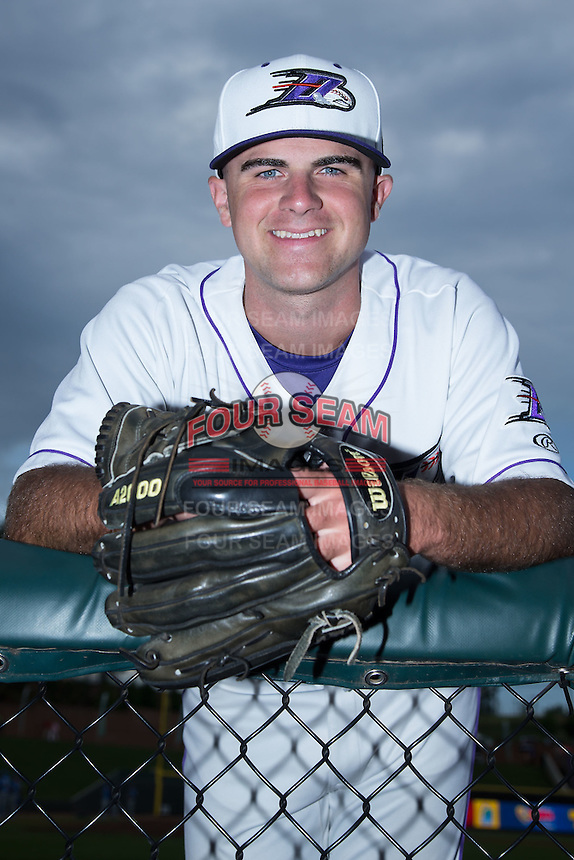 Winston-Salem Dash relief pitcher Matt Cooper (27) poses for a photo prior to the game against the Myrtle Beach Pelicans at BB&T Ballpark on August 18, 2015 in Winston-Salem, North Carolina.  The game was rained out.  (Brian Westerholt/Four Seam Images)