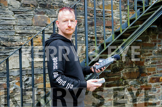 Paranormal Event : Anthony Kerrigan from Killarney pictured at the Bridewell Goal, Tarbert to launch the paranormal activity event whidh will take place at the Bridewell Museum, Tarbert on Friday 20th October.