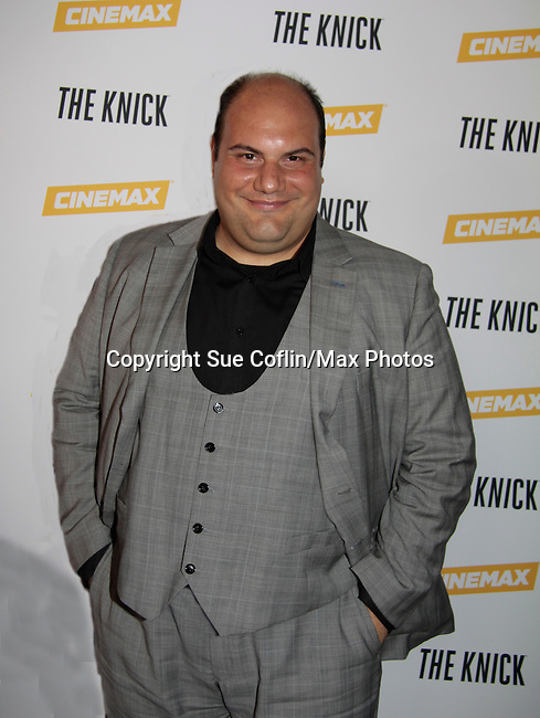 "David Fierro stars inThe Knick as ""Inspector"" on Cinemax - premiering Aug 2014 - starring Andre Holland, Leon Addison Brown, David Fierro and more on July 23, 2014 at NY Academy of Medicine , New York City, New York.  (Photo by Sue Coflin/Max Photos)"