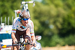 SITTARD, NETHERLANDS - AUGUST 16: Gediminas Bagdonas of Lithuania riding for AG2R La Mondiale competes during stage 5 of the Eneco Tour 2013, a 13km individual time trial from Sittard to Geleen, on August 16, 2013 in Sittard, Netherlands. (Photo by Dirk Markgraf/www.265-images.com)