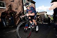 Picture by Alex Whitehead/SWpix.com - 14/05/2017 - Cycling - 2017 HSBC UK   Spring Cup Road Series - Lincoln Grand Prix - JLT Condor's Steve Lampier climbs Michaelgate cobbles.