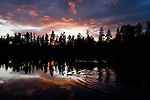 Sunsets over American Lake near Tacoma, Washington. Jim Bryant Photo