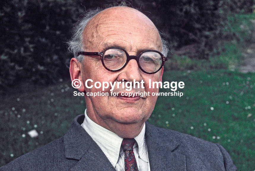 Phelim O'Neill, Lord Rathcavan (2 November 1909 - 20 December 1994), politician, Northern Ireland, hereditary peer, House of Lords. Studied Eton College. Joned Royal Artillery. &amp; became a Major during World War II. O'Neill elected to UK Parliament,  Ulster Unionist, North Antrim, 1952. In 1958 elected to Northern Ireland Stormont Parliament. In 1969, he briefly served as Minister of Education before becoming the Minister of Agriculture. O'Neill joined Alliance Party of Northern Ireland in 1972. In 1982, he succeeded his father as the second Baron Rathcavan. 197302090087b.<br /> <br /> Copyright Image from Victor Patterson,<br /> 54 Dorchester Park, Belfast, UK, BT9 6RJ<br /> <br /> t1: +44 28 90661296<br /> t2: +44 28 90022446<br /> m: +44 7802 353836<br /> <br /> e1: victorpatterson@me.com<br /> e2: victorpatterson@gmail.com<br /> <br /> For my Terms and Conditions of Use go to<br /> www.victorpatterson.com