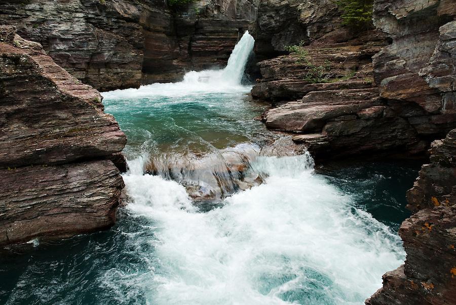 St. Mary Falls, Glacier National Park, Montana