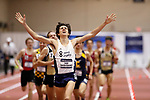 NAPERVILLE, IL - MARCH 11: Issac Garcia-Cassini of SUNY Geneseo celebrates as he win the 1 Mile Run at the Division III Men's and Women's Indoor Track and Field Championship held at the Res/Rec Center on the North Central College campus on March 11, 2017 in Naperville, Illinois. (Photo by Steve Woltmann/NCAA Photos via Getty Images)