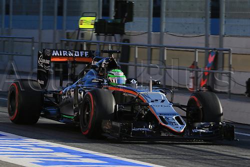 01.03.2016. Barcelona, Spain.  Formula 1 winter car testing at Circuit de Barcelona Catalunya Test 2 Day 1.  Sahara Force India VJM09 - Nico Hulkenberg