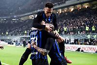 Danilo D'Ambrosio of Internazionale celebrates with Radja Nainggolan and Lautaro Martinez after scoring the goal of 1-0 <br /> Milano 17-2-2019 Stadio Giuseppe Meazza in San Siro Football Serie A 2018/2019 FC Internazionale  - UC Sampdoria Foto Image Sport / Insidefoto