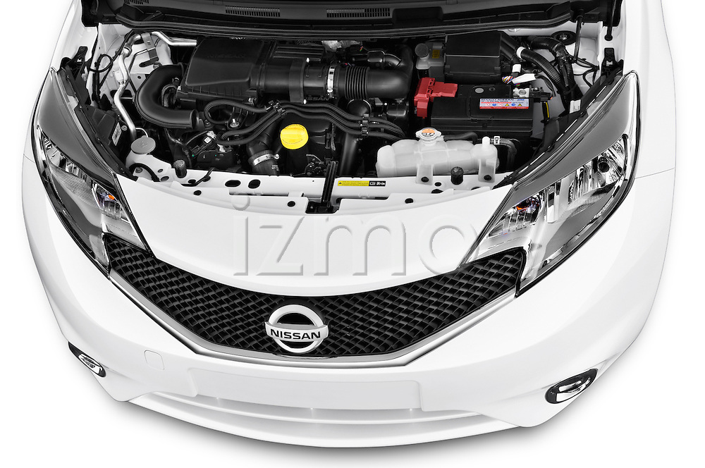 High angle engine detail of a 2013 Nissan NOTE 5 Door Hatchback 2WD