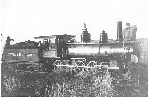 Engine #173 pulling passenger train.<br /> D&amp;RG
