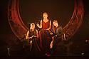 "London, UK. 22.02.2016. Mark Bruce Company presents ""The Odyssey"" at Wilton's Music Hall. Picture shows: Grace Jabbari, Hannah Kidd, Nicola Guarino. Photograph © Jane Hobson."