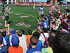 David Wright, New York Mets captain, talks to fans during a visit to Coleman Country Day Camp in Merrick on Monday, Aug. 8, 2016.