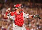22 May 2015: Philadelphia Phillies catcher Carlos Ruiz in action against the Washington Nationals at Nationals Park in Washington, DC. The Nationals defeated the Phillies 2-1 in the first game of their 3-game weekend series. Mandatory Credit: Ed Wolfstein Photo *** RAW (NEF) Image File Available ***