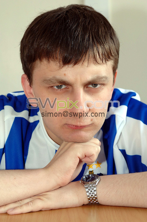 Pix: Simon Wilkinson/SWpix.com. The Sun Fantasy Football player trainee accountant Chris Marshall, pictured at work..copyright picture>>simon wikinson>>07811 267 706>>..Chris Marshall who be watching his very own ?125,000 game tomorrow.