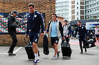 The Racing 92 team arrive at the stadium. European Rugby Champions Cup semi final, between Leicester Tigers and Racing 92 on April 24, 2016 at The City Ground in Nottingham, England. Photo by: Patrick Khachfe / JMP