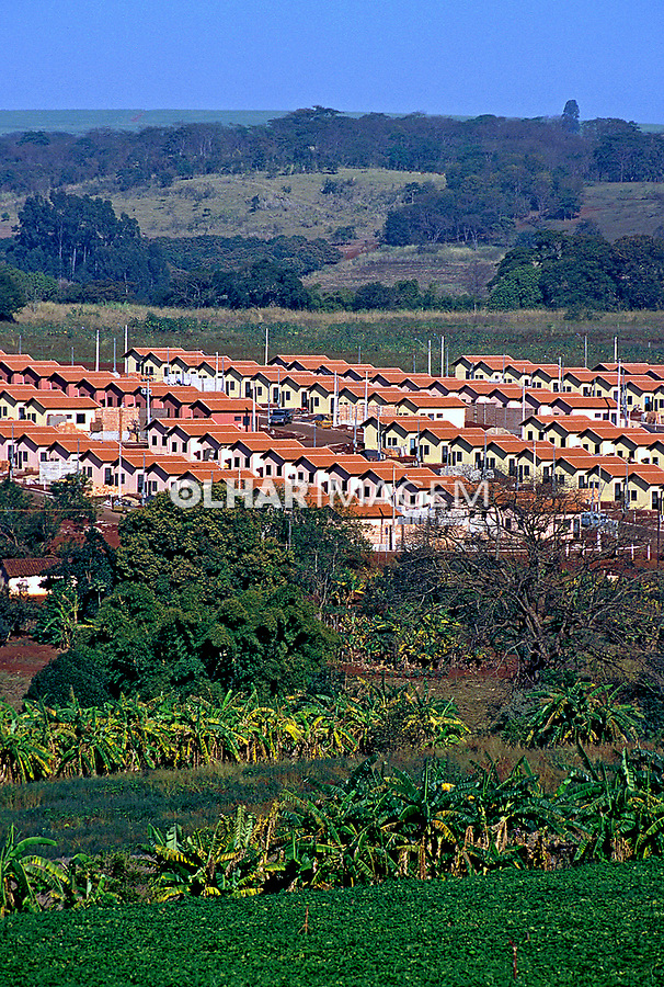 Conjunto habitacional para trabalhadores rurais. Ribeirão Preto. São Paulo. 1999. Foto de Juca Martins.
