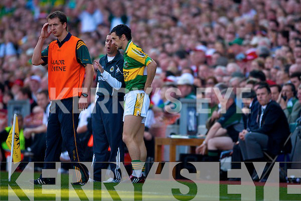 Kerry v Tyrone All ireland Final 2008 at Croke Park Dublin 21st September 2008. Paul Galvin, Kerry Manager Pat O'Shea
