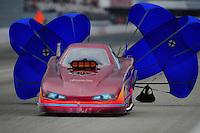 Feb. 11, 2012; Pomona, CA, USA; NHRA top alcohol funny car driver Mark Woznichak during the Winternationals at Auto Club Raceway at Pomona.  Mandatory Credit: Mark J. Rebilas-