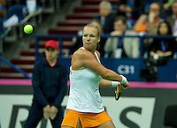 Moskou, Russia, Februari 7, 2016,  Fed Cup Russia-Netherlands, Kiki Bertens (NED)<br /> Photo: Tennisimages/Henk Koster
