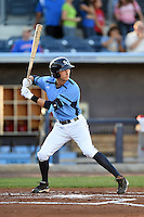 Charlotte Stone Crabs third baseman Tyler Goeddel (5) during a game against the Palm Beach Cardinals on April 12, 2014 at Charlotte Sports Park in Port Charlotte, Florida.  Palm Beach defeated Charlotte 6-2.  (Mike Janes/Four Seam Images)