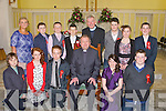 Confirmation class of Ballyduff Central who were confirmed in St Johns Church, Causeway.on Wednesday by Fr Tadhg Fitzgerald assisted by Fr Brendan Walsh (PP), Front l-r: Andrew Dalton, Emma OConnor, Sean Williams, Fr Tadgh Fitzgertald, Shannen Mannix and David Linnane. Back l-r: Martina Rochford (Teacher), Jack OSullivan, Dillon Robinson, Jack Sullivan, Fr, Brendan Walsh (PP), Jordan ORourke, Eva Joy and Chris Whyte...