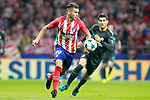 Atletico de Madrid's Lucas Hernandez (l) and Chelsea FC's Alvaro Morata during Champions League 2017/2018, Group C, match 2. September 27,2017. (ALTERPHOTOS/Acero)