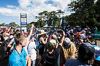 Picture by Alex Broadway/SWpix.com - 08/09/17 - Cycling - UCI 2017 Mountain Bike World Championships - XCO - Cairns, Australia - Start of the Men's Under 23 World Championship Race.