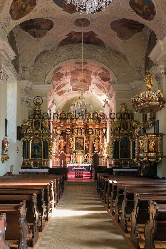 Austria, Styria, Radmer an der Stube: pilgrimage church Saint Anthony of Padua, interior | Oesterreich, Steiermark, Radmer an der Stube: Wallfahrtskirche zum heiligen Antonius von Padua, Innenraum