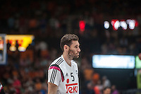 VALENCIA, SPAIN - June 11: Rudy Fernandez during SEMI FINAL ENDESA LEAGUE match between Valencia Basket Club and Real Madrid Basket at Fonteta Stadium on June 11, 2015 in Valencia, Spain