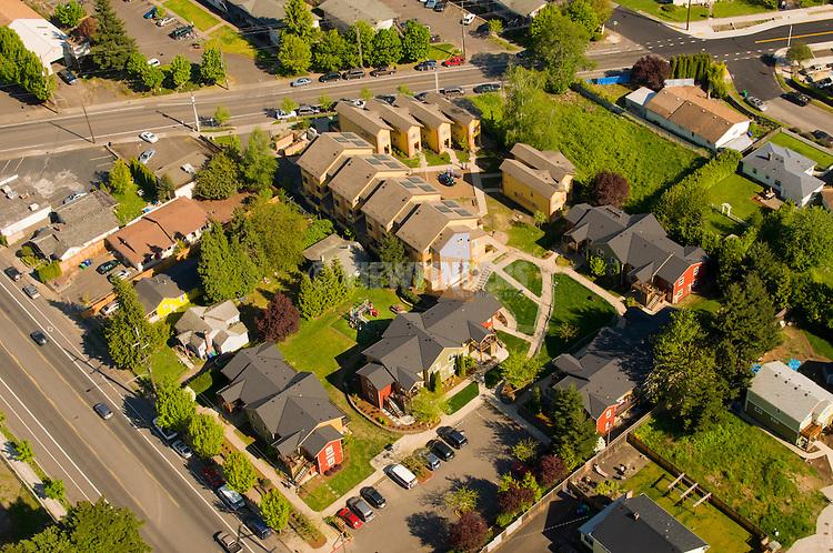 Aerial View of Cully Blvd, Portland, Oregon