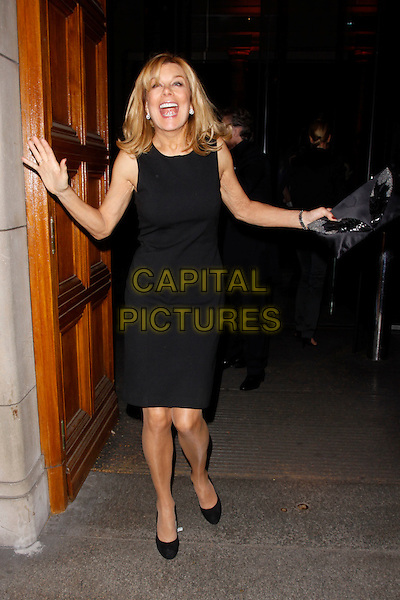 Jilly Johnson.The talent agent Jonathan Shalit's 50th birthday party, V&A Museum, London, England..April 17th, 2012.full length dress black clutch bag hands arms mouth open funny .CAP/AH.©Adam Houghton/Capital Pictures.