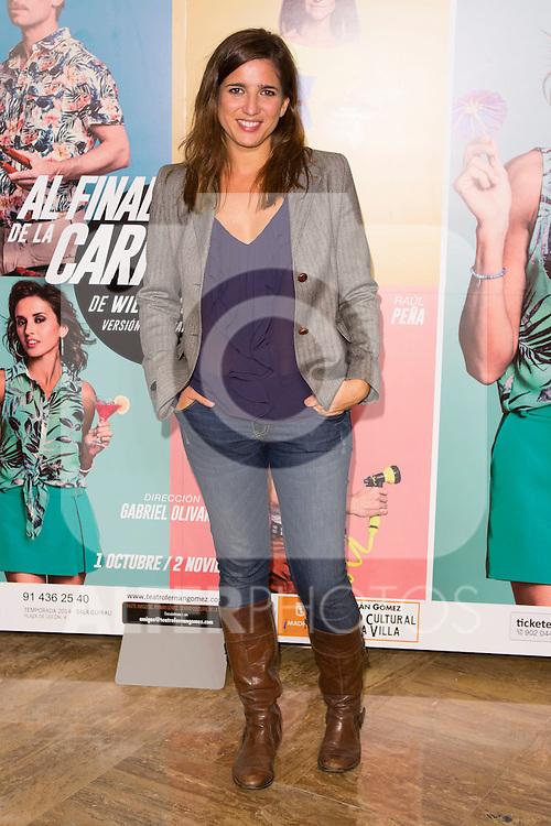 """Lucia Jimenez attends the Premiere of the Theater Play """"Al Final de la carretera"""" at Fenan Gomez Theatre in Madrid, Spain. October 7, 2014. (ALTERPHOTOS/Carlos Dafonte)"""