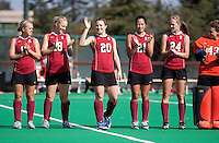 STANFORD, CA - November3, 2011: Team introduction during the Stanford vs. Appalachian State opener of  the  NorPac Championship at the Varsity Turf on the Stanford campus Thursday afternoon.<br /> <br /> Stanford defeated Appalachian State 7-0.
