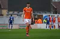 Blackpool's Ben Heneghan is sent off for a foul during the first half<br /> <br /> Photographer Ian Cook/CameraSport<br /> <br /> The EFL Sky Bet League One - Bristol Rovers v Blackpool - Saturday 15th February 2020 - Memorial Stadium - Bristol<br /> <br /> World Copyright © 2020 CameraSport. All rights reserved. 43 Linden Ave. Countesthorpe. Leicester. England. LE8 5PG - Tel: +44 (0) 116 277 4147 - admin@camerasport.com - www.camerasport.com