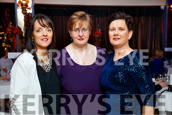Sinead Purcell, Mary Keane and Martha Casey, all from Ballyduff, enjoying Women's Christmas at Ballygarry House Hotel and Spa, Tralee, on Saturday night last.
