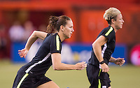 Montreal, Canada - June 29, 2015:  The USWNT trained in preparation for the semifinals of the FIFA Women's World Cup at Montreal Stadium.
